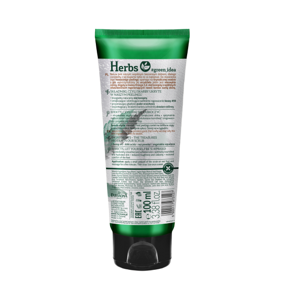 HERBS HEMP OIL Foot scrub for very dry skin 100 ml.  hem0041